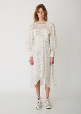 Adonis Checked Organza Dress