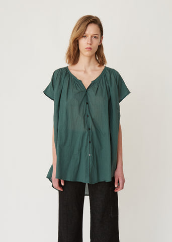 Cotton Draped Blouse