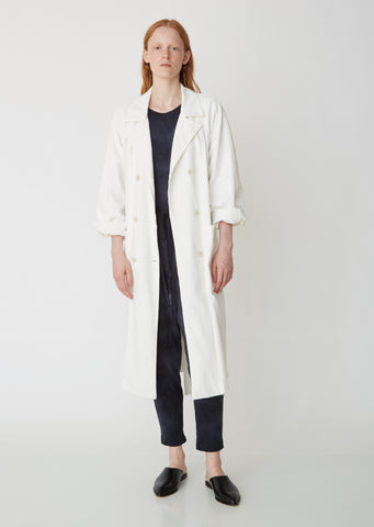Tailoring Jersey Trench Coat
