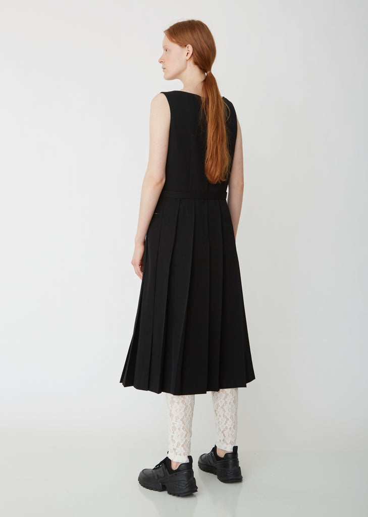 Wool Gabardine Sleeveless Dress