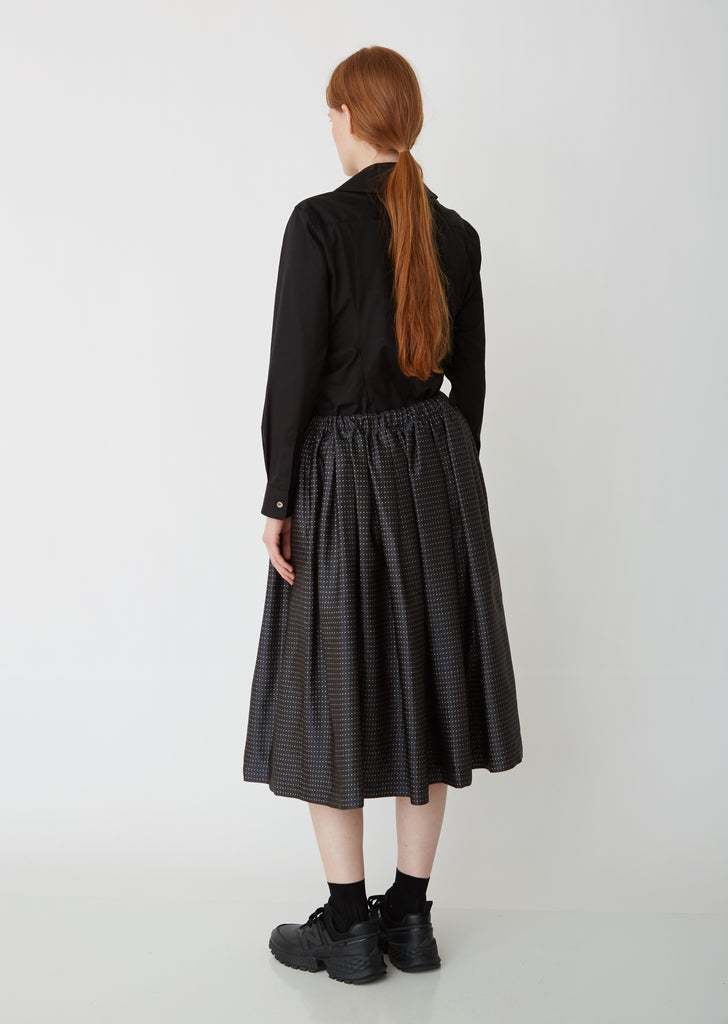 Jacquard Pleated Dobby Skirt