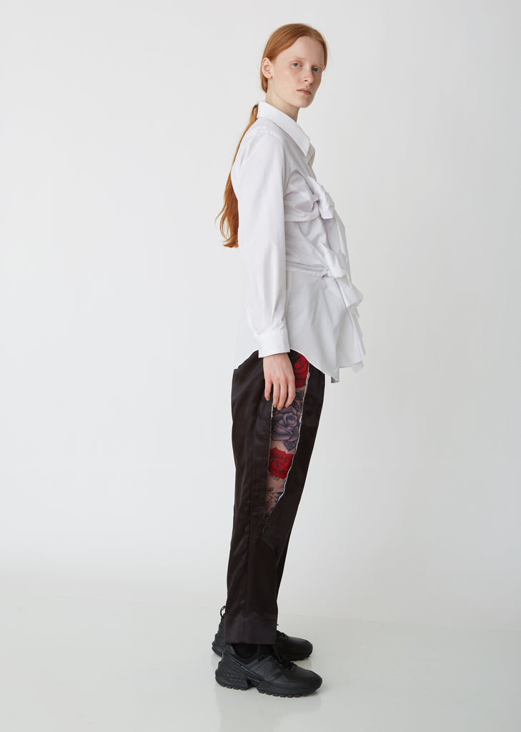 Satin Cut Out Trousers