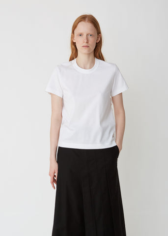 Cotton Ponte Short Sleeve Top