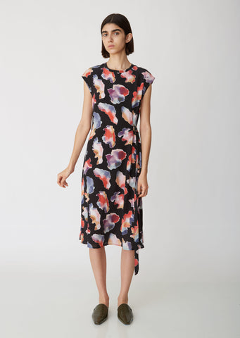Quinta Silk Tie Dye Belt Dress