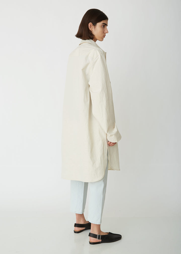 Cotton Linen Overshirt Coat