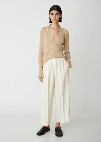 Cropped Darted Trousers