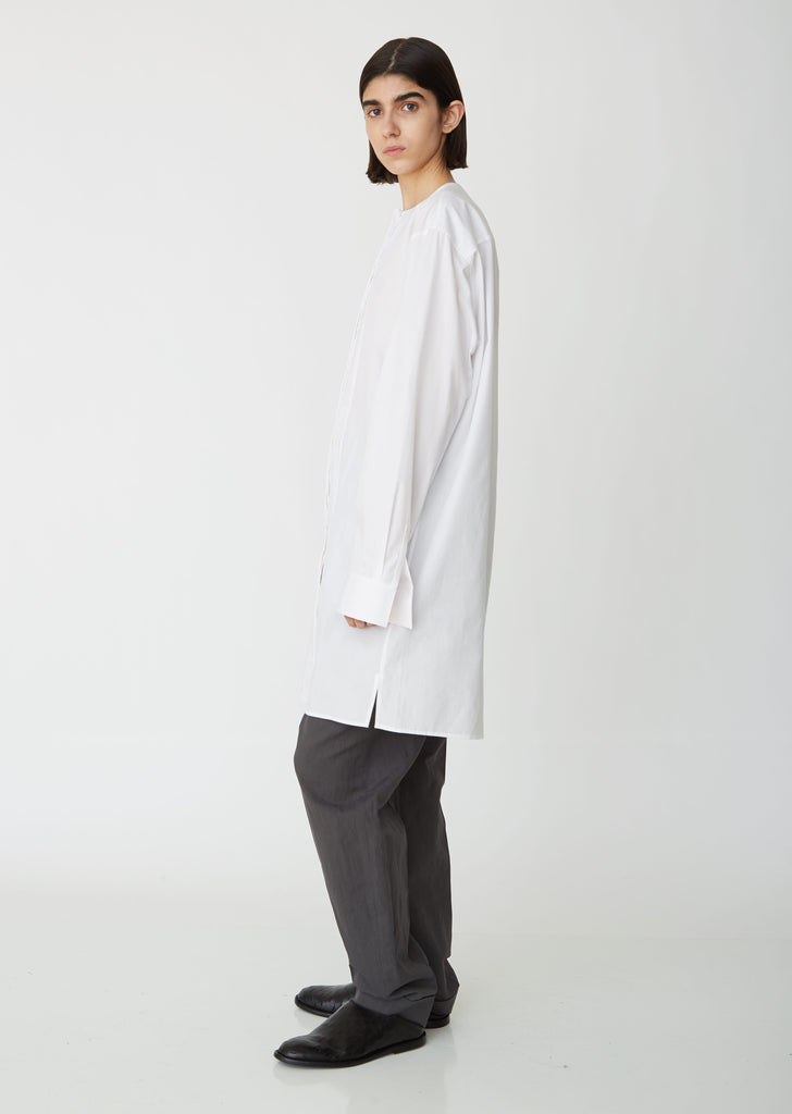 Cotton Poplin Long Tunic