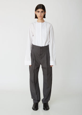 Anthracite Pleated Trousers