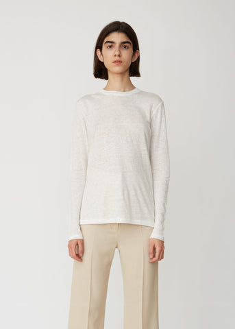 Taline Long Sleeve Linen Tee