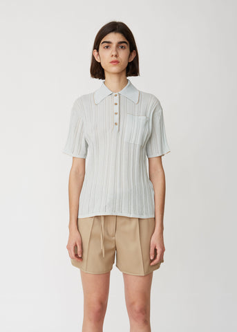 Karina Knit Polo Top