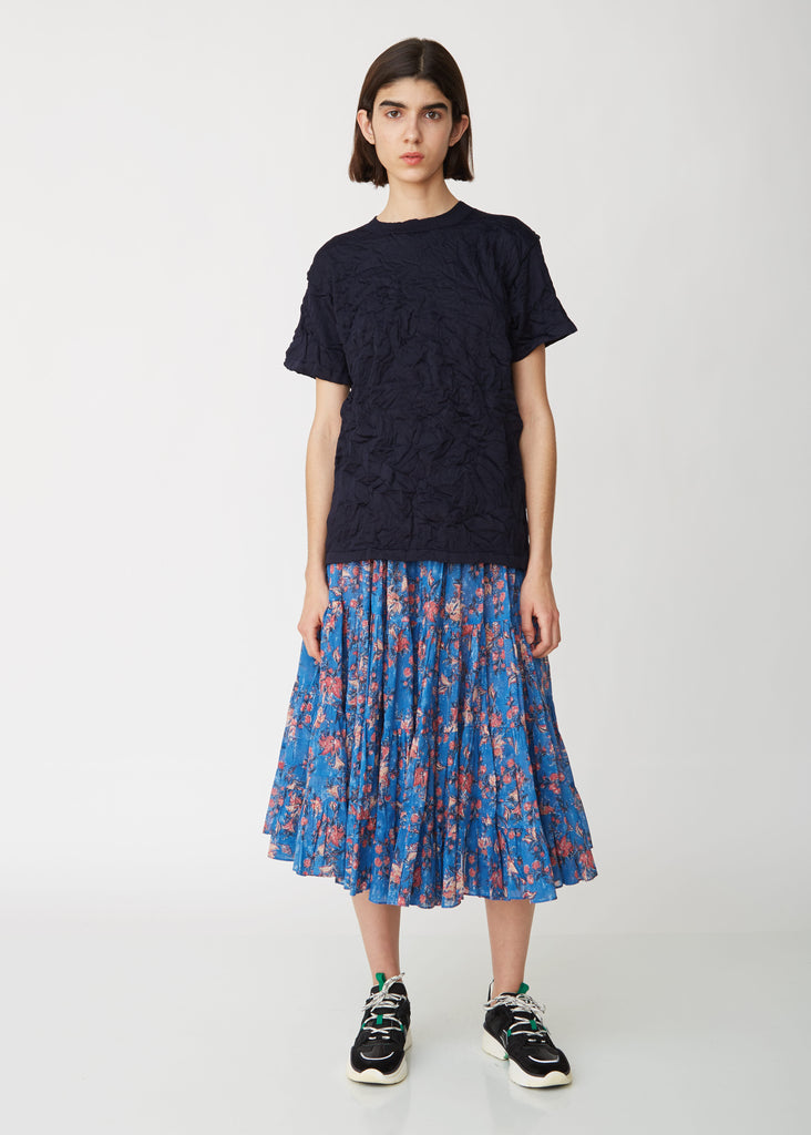 Elfa Pleated Cotton Voile Skirt
