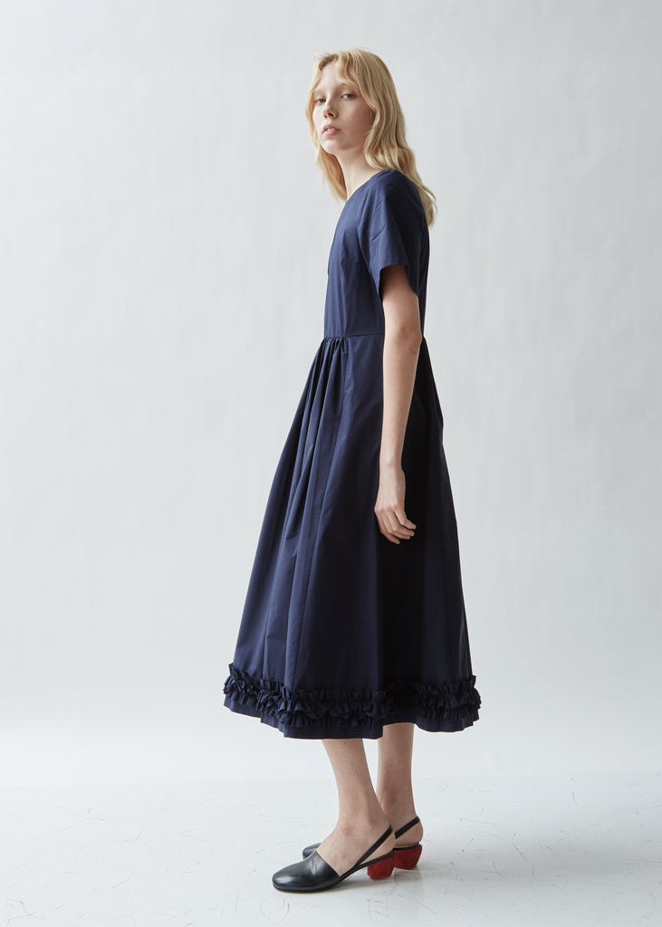 Erika Cotton Poplin Ruffled Dress