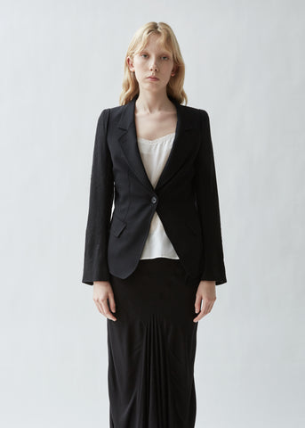 Tailored Blazer With Jacquard Sleeves