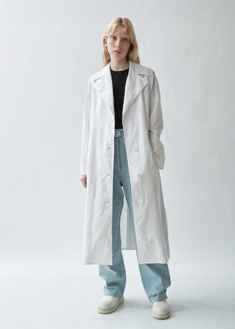 Belted Washed Cotton Trench Coat