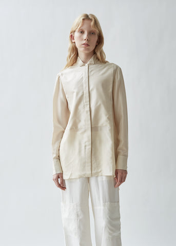 Silk Evening Plastron Shirt