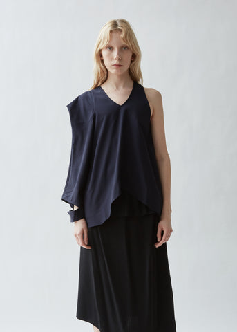 Asymmetric Patch Pocket Top