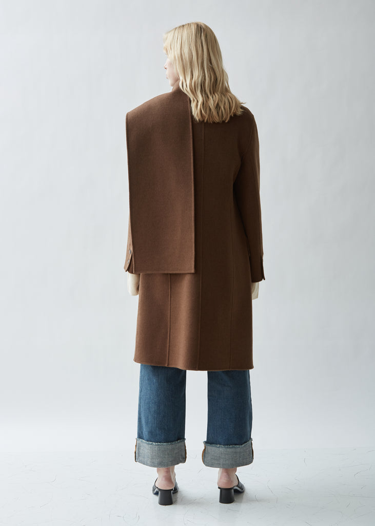 Double Face Wool Scarf Coat