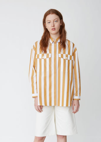 Striped Cotton Poplin Over Shirt