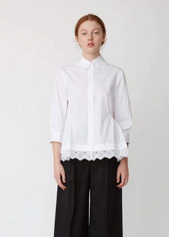 Broderie Anglaise Long Sleeve Shirt