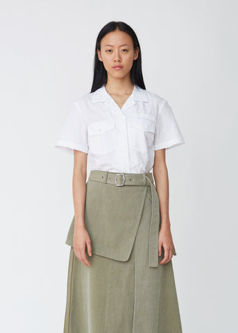 Wallis Cotton Canvas Button Skirt