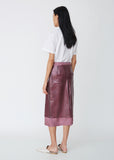 Sula Embossed Plastic Straight Skirt