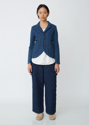 Indigo Fleece Farm Blazer