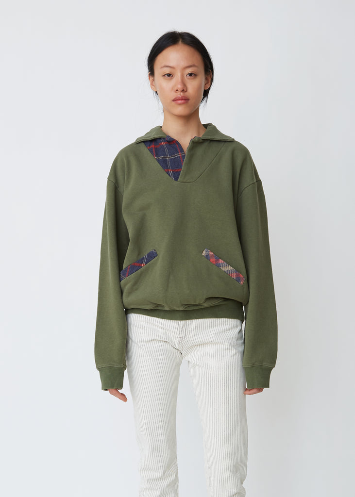 Fleecy Knit Skipper Sweatshirt