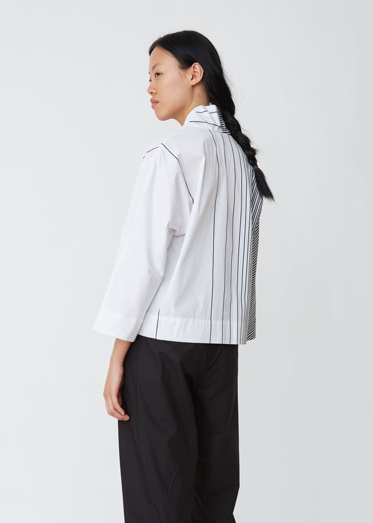 Distortion Stripe Blouse