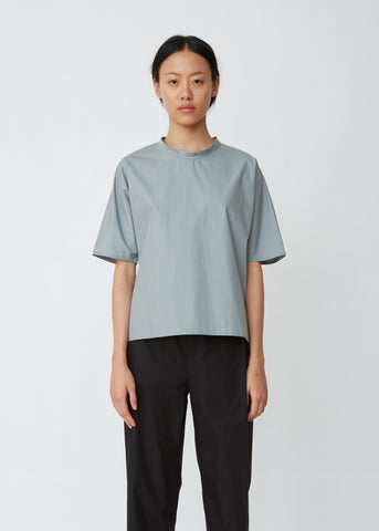 Shrinkage Cotton Poplin Top
