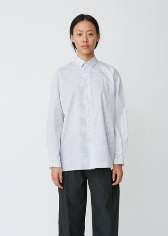 Sunlight Checked Striped Poplin Shirt
