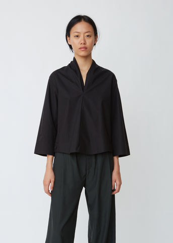 Distortion Poplin Blouse