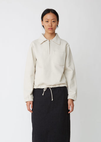 Chalk Cotton Track Top