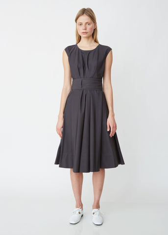 Cap Sleeve Dress with Self Tie Belt