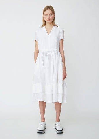 Short Sleeve Linen Shirtdress