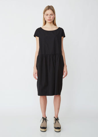 Cap Sleeve Gathered Waist Dress