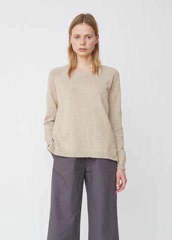 Lightweight Cotton-Blend Crewneck Sweater