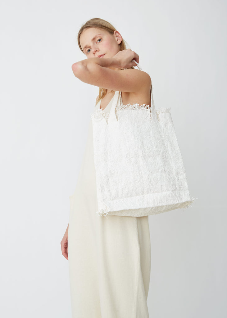 Handwoven Distressed Tote