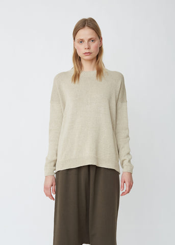 Folk Cotton Linen Crewneck