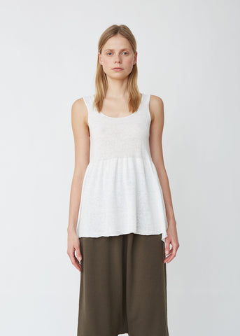 Tier Cotton Linen Tank