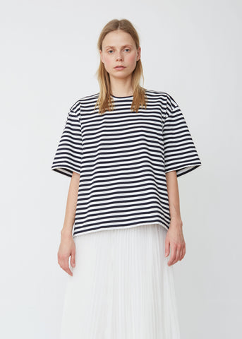 Cotton Jersey Horizontal Stripe Tee