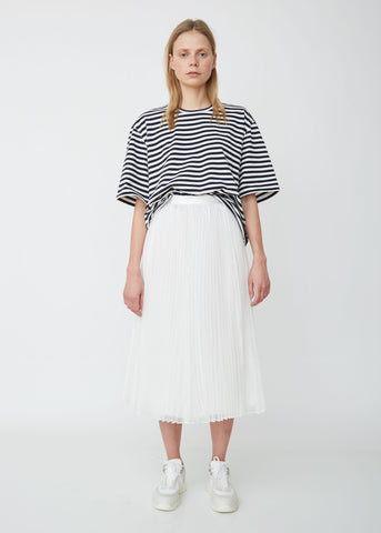 Organdy x Satin Pleated Skirt