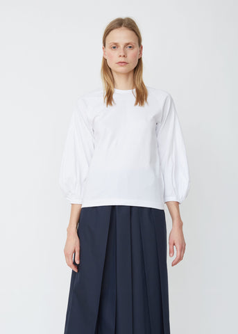 Cotton Jersey Puff Sleeve Top