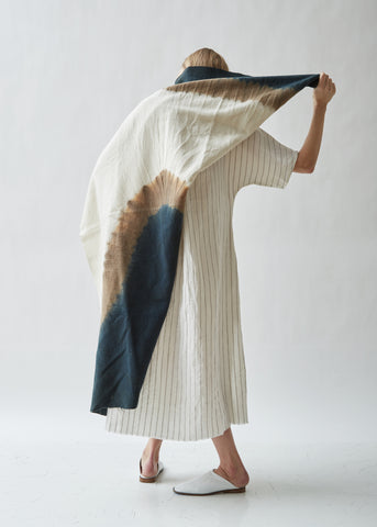 Amami Island Vegetable Dyed Wool Throw Blanket