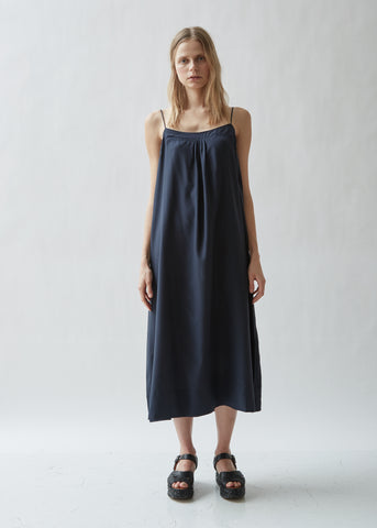 Summer Silk Crepe Sleeveless Dress