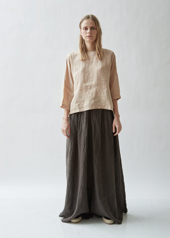 Gathered Linen Top