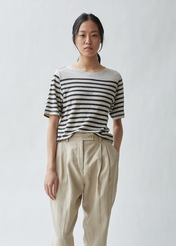 Megalin Linen Stripe T-shirt