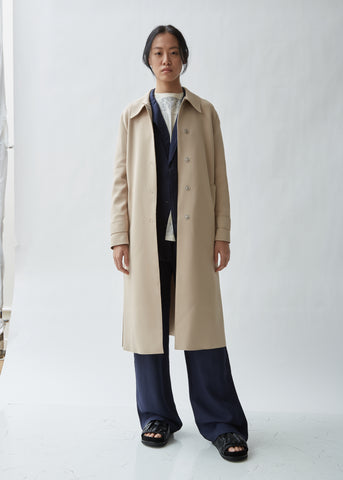 Single-Breasted Technic Trench Coat