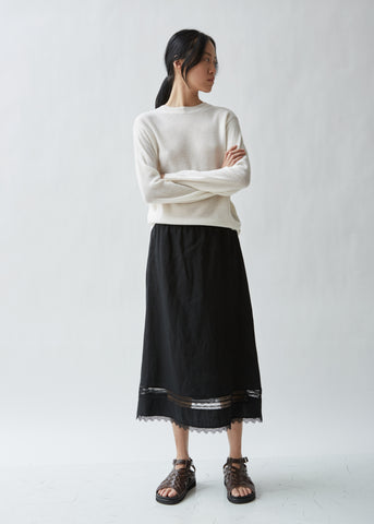 Sobral Linen Skirt With Lace Detailing