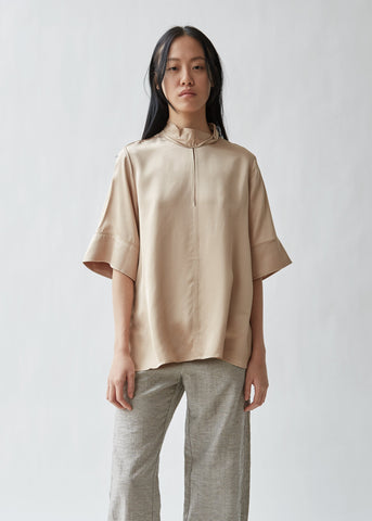 Twist Fluid Satin Blouse