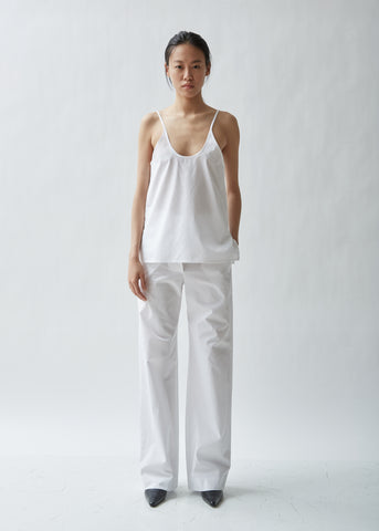 Cotton Poplin Relaxed Trouser